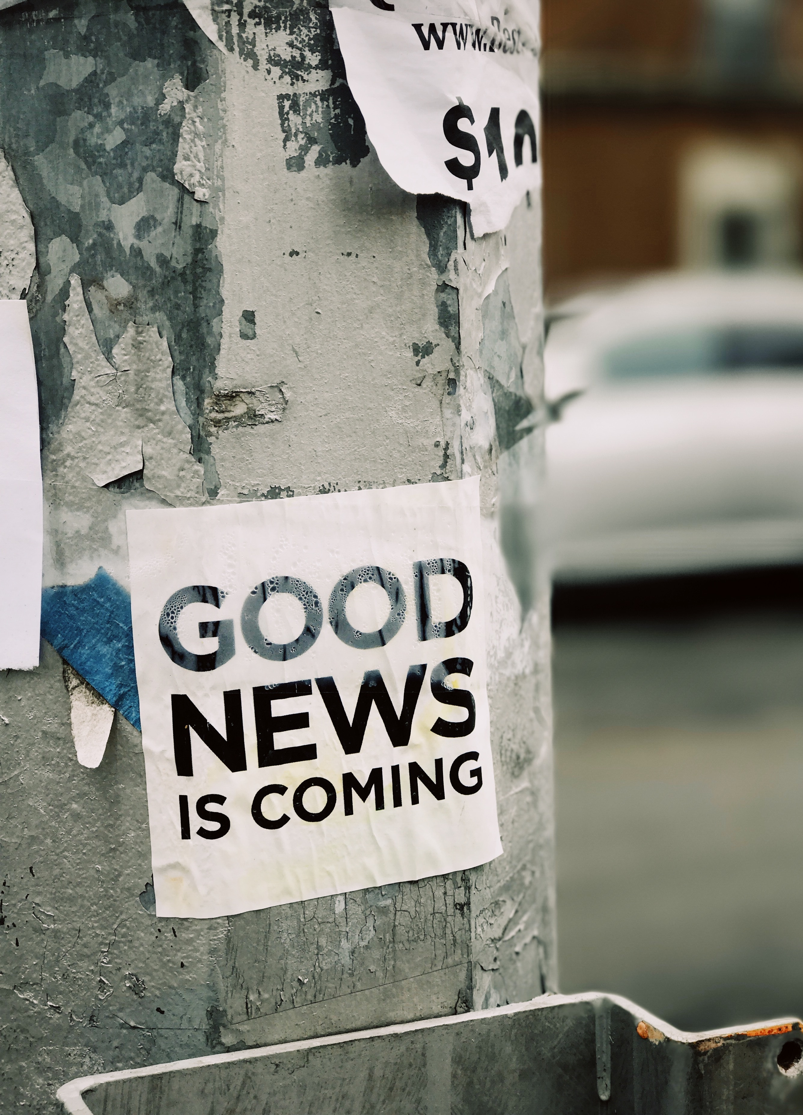 good news is coming - we have hope